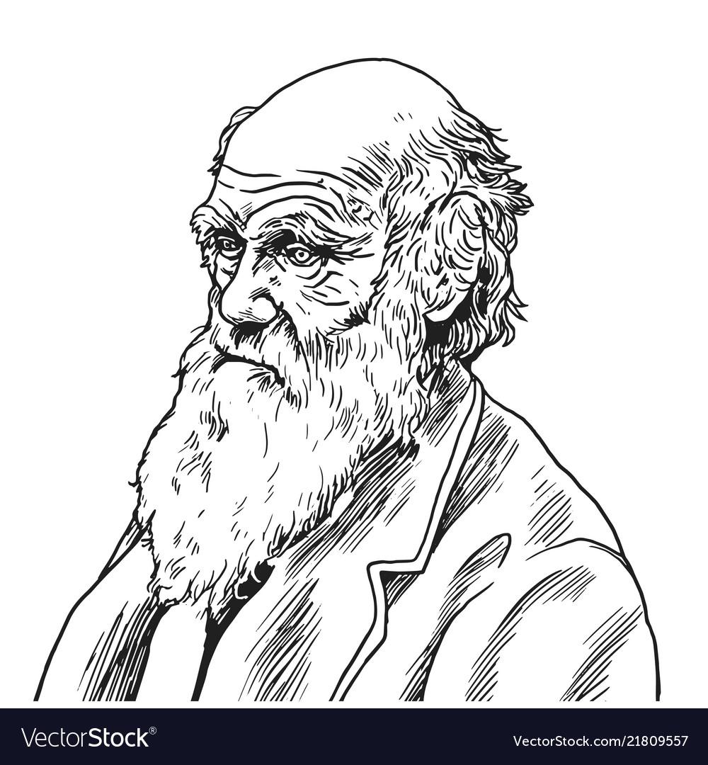 Charles robert darwin cartoon caricature