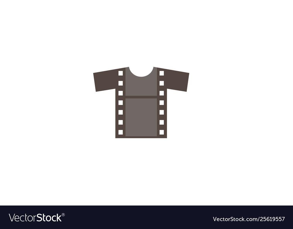 Creative t-shirt silkscreen film logo symbol