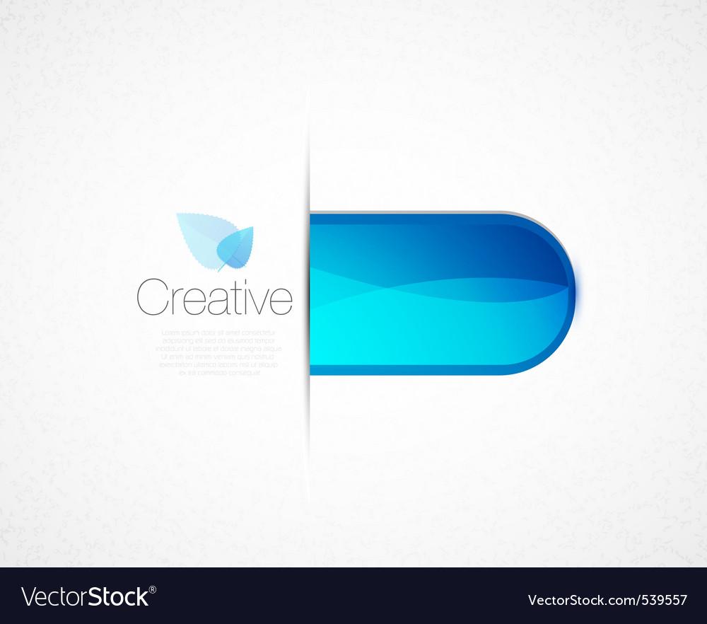 Creative tab vector image