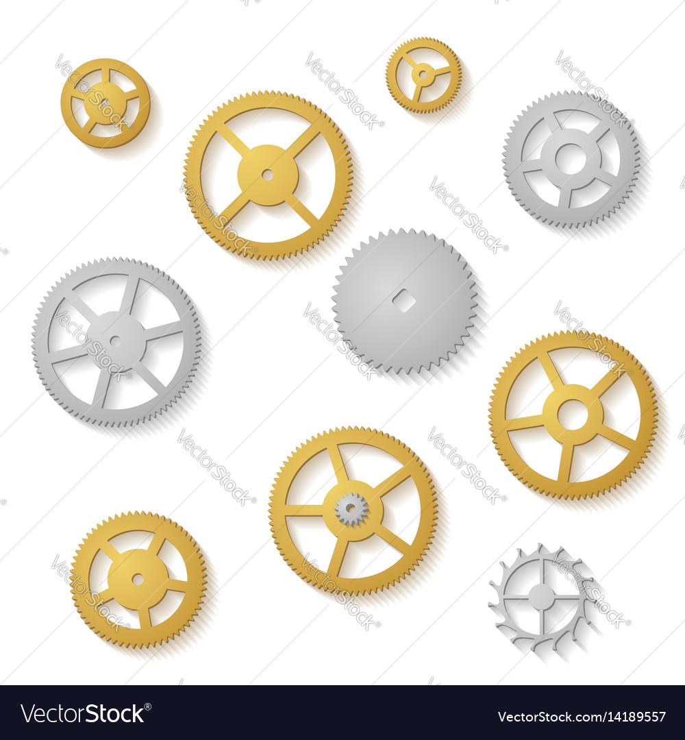 Gear collection clock machine wheels gradient