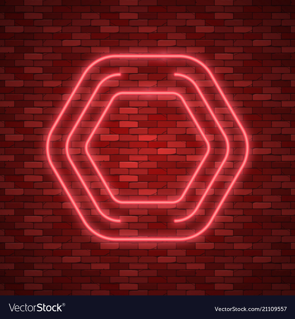 Line border with light effects vector image