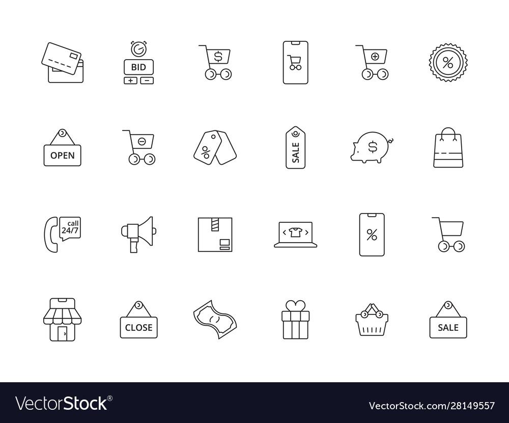 Market online icon e commerce business purchasing
