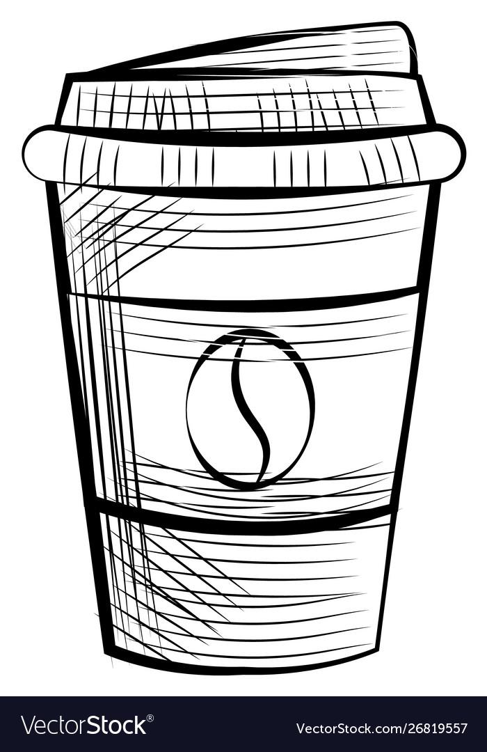 Monochrome disposable cup for espresso and latte