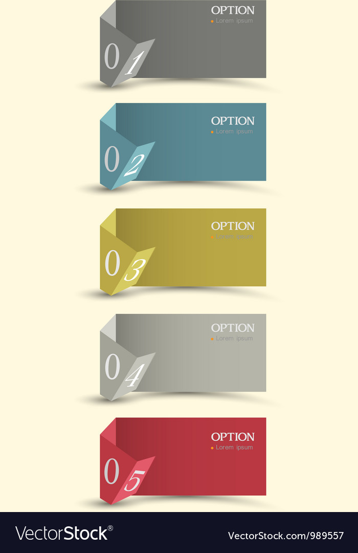 Origami paper numbered banners