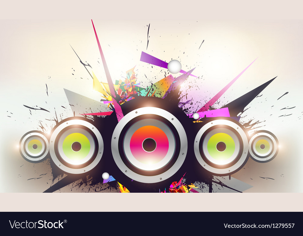 Speakers design vector image