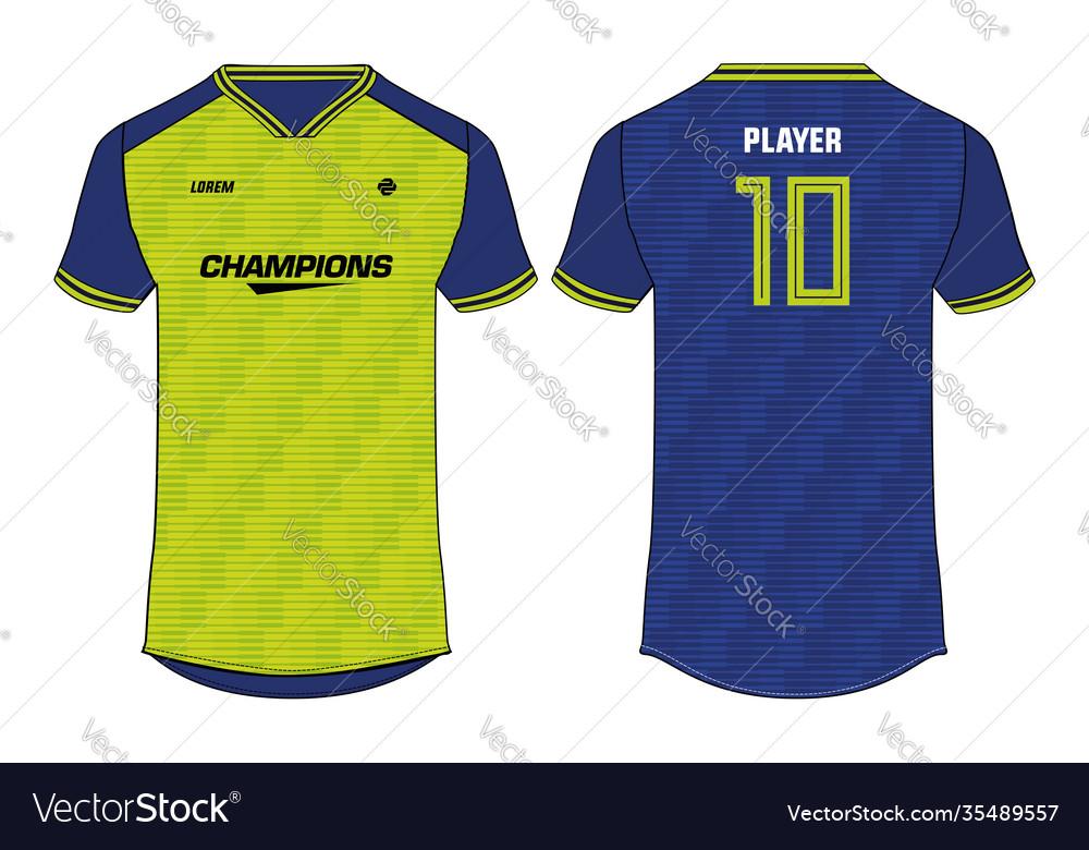 Sports T Shirt Jersey Design Concept Template Vector Image