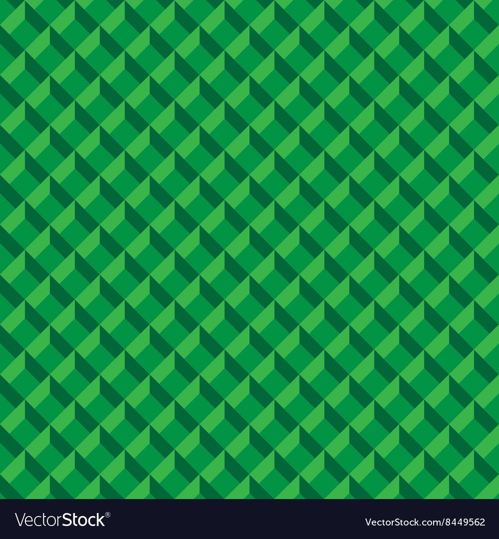Abstract green 3d box design seamless pattern