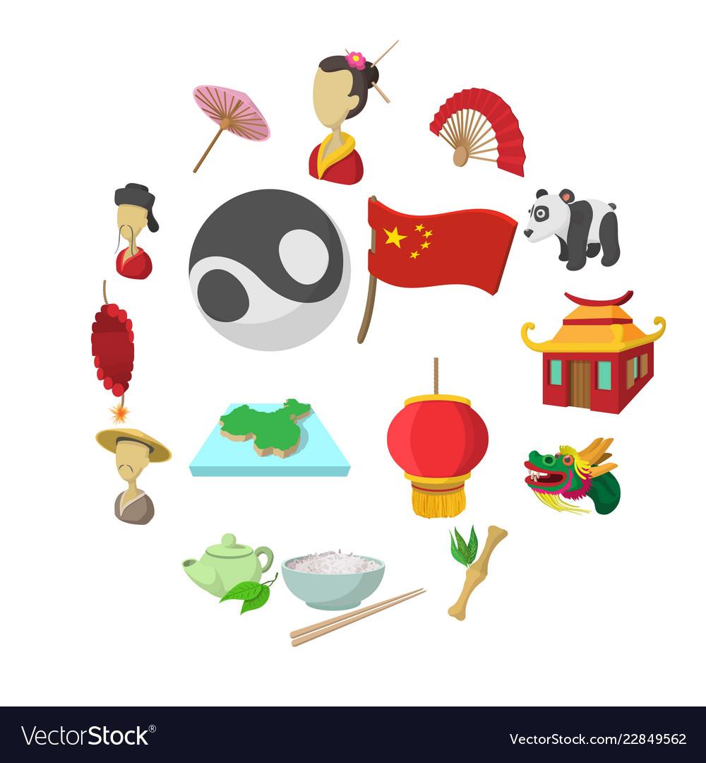China cartoon icons