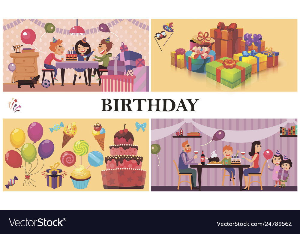 Flat birthday party concept