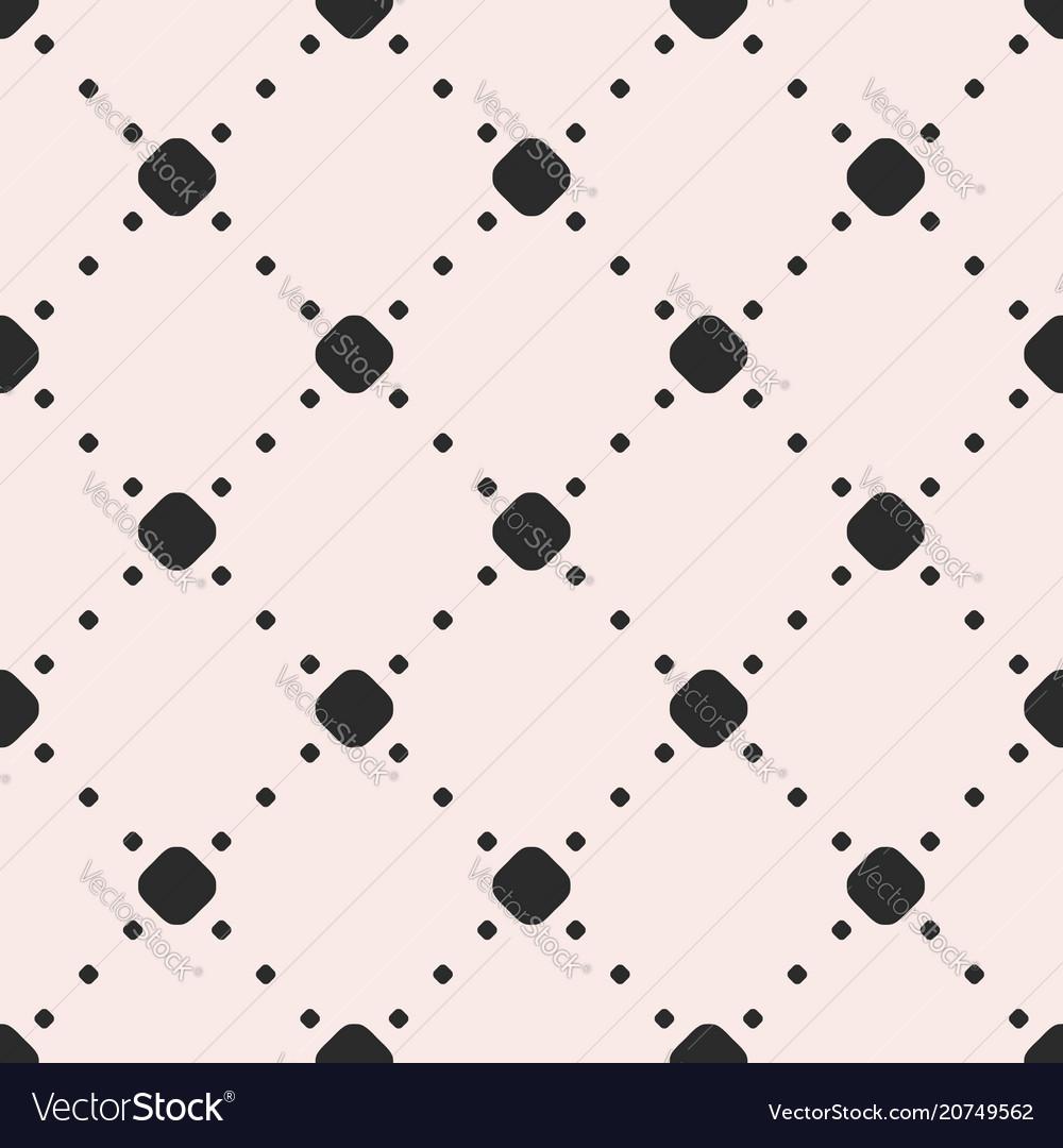 Minimalist seamless pattern with circles and dots