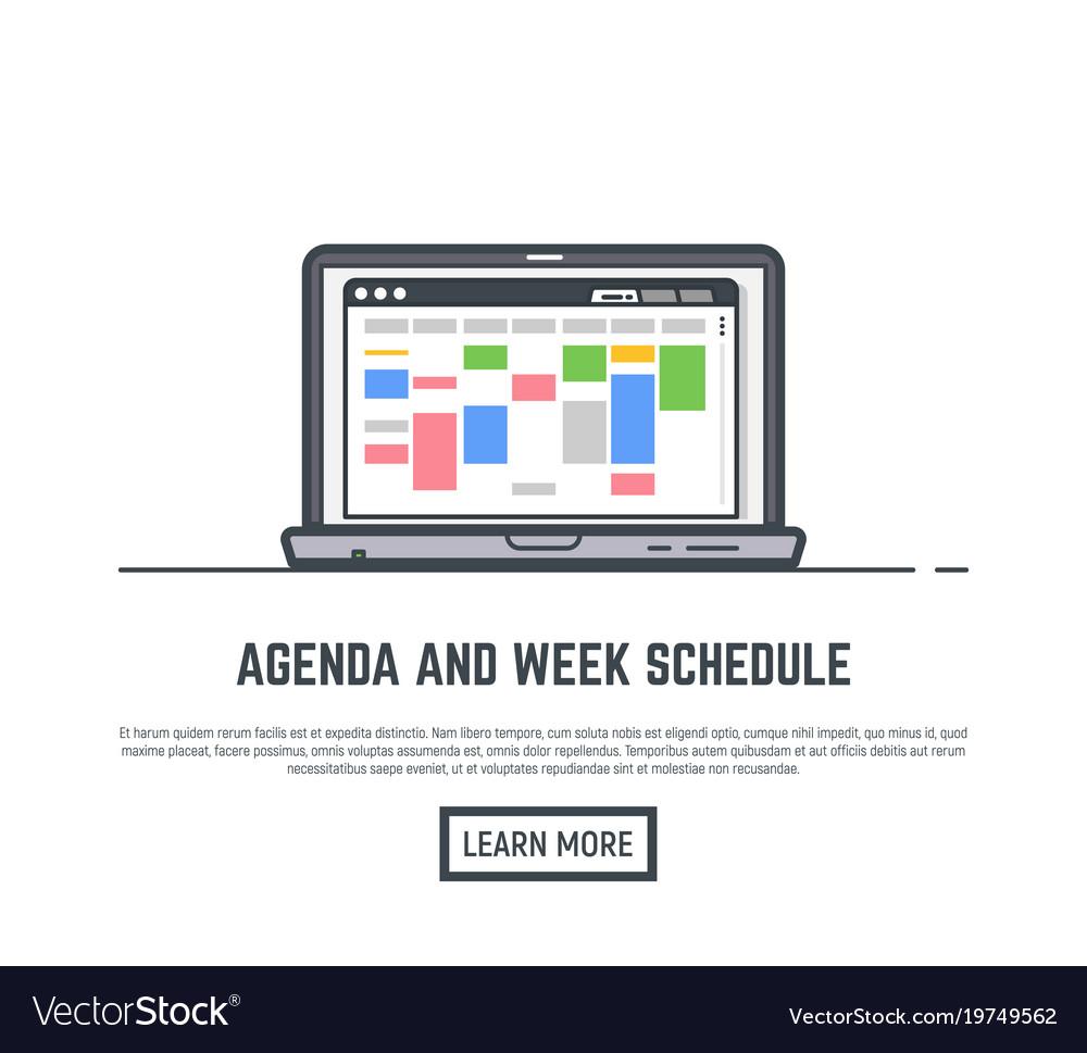 schedule online app royalty free vector image vectorstock