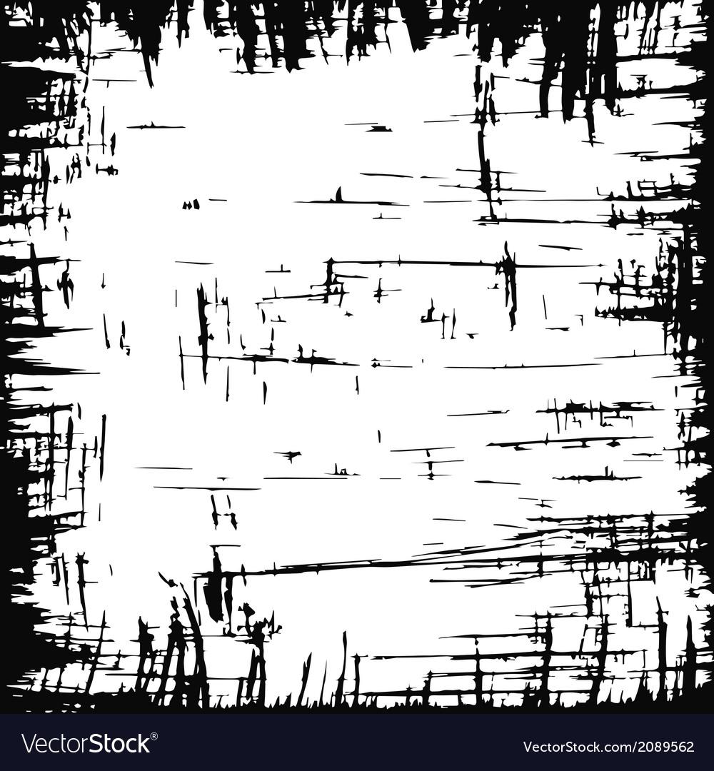 Scratched frame