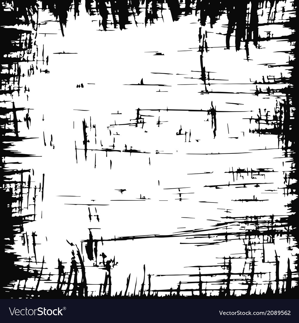 Scratched frame vector image