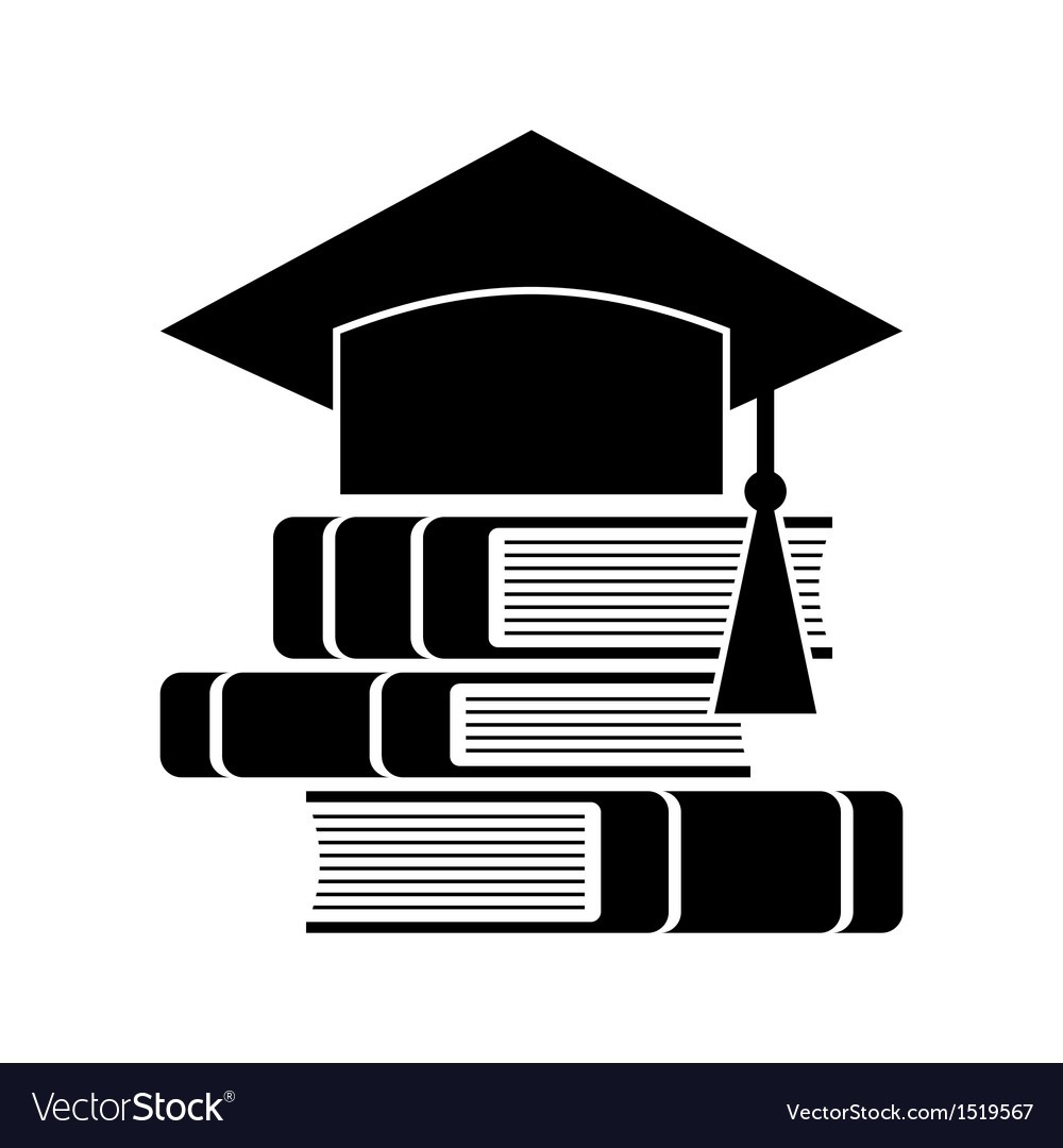 celebrating graduating hat and books royalty free vector rh vectorstock com books victoria the queen books victoria and abdul large print