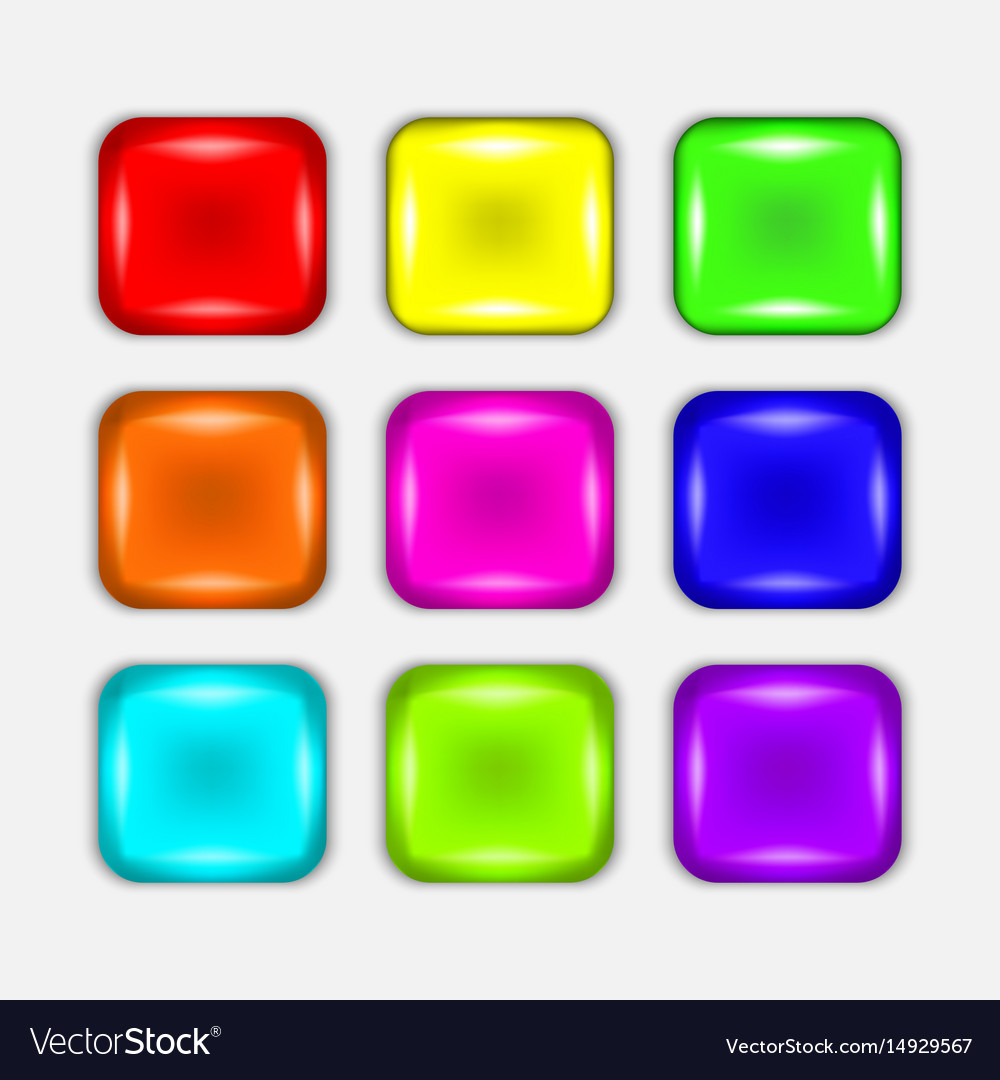 Colorful button set vector image