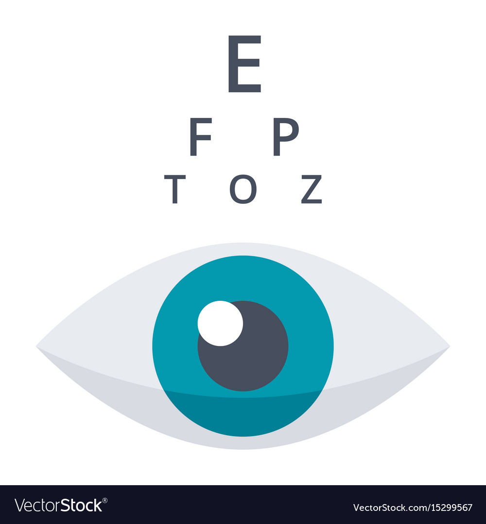 80fec9944d7 Optometry or ophthalmology icon Royalty Free Vector Image
