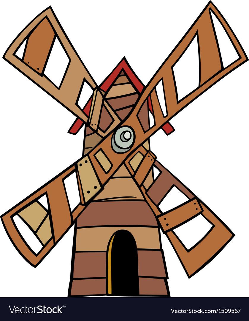 Windmill clip art cartoon vector image