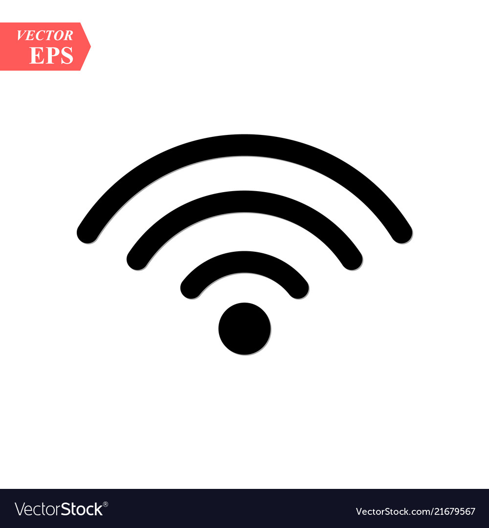 Wireless and wifi icon or sign for remote internet