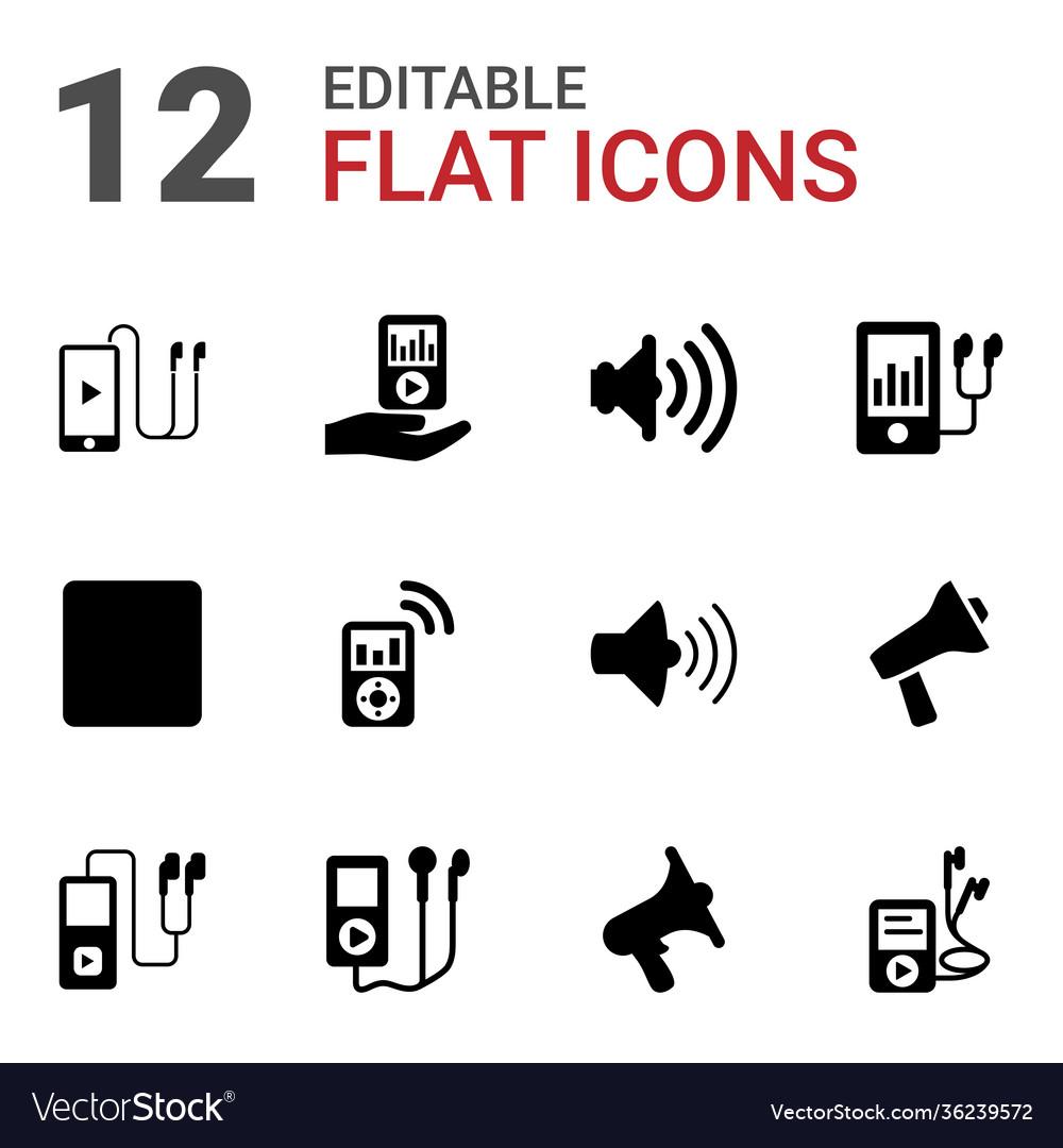 12 mp3 icons