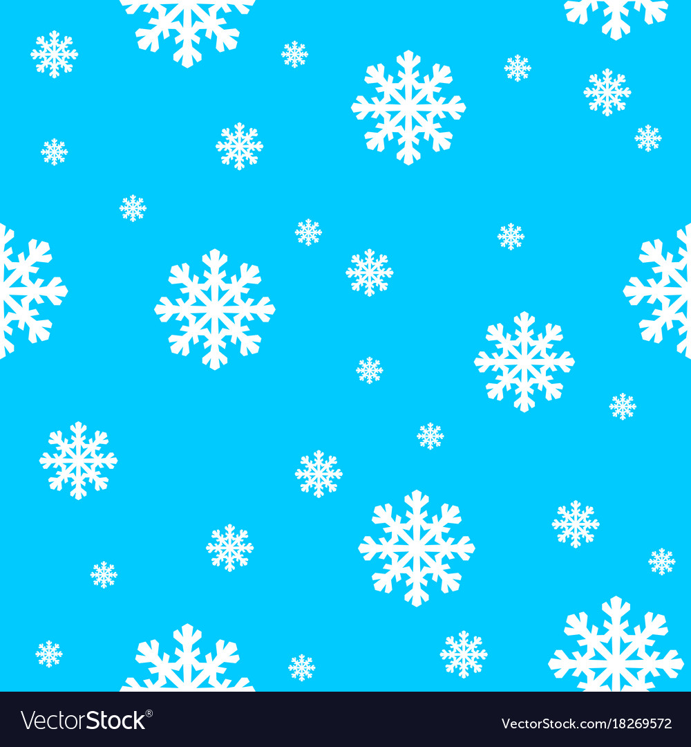 Blue and White Snowflake
