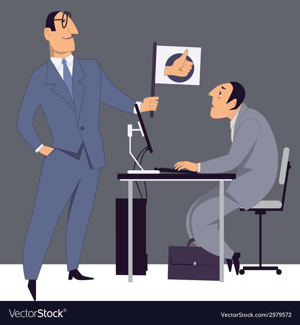 Boss encouraging an employee