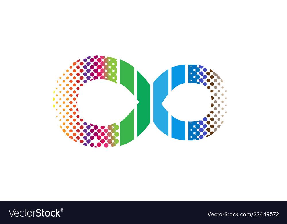 Creative infinity symbol logo