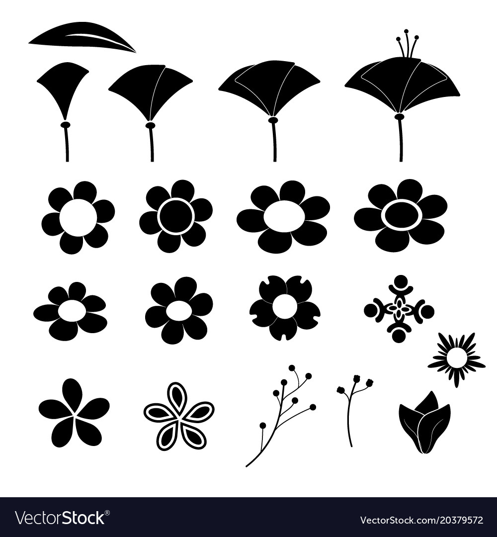 Cute flower icon on white background