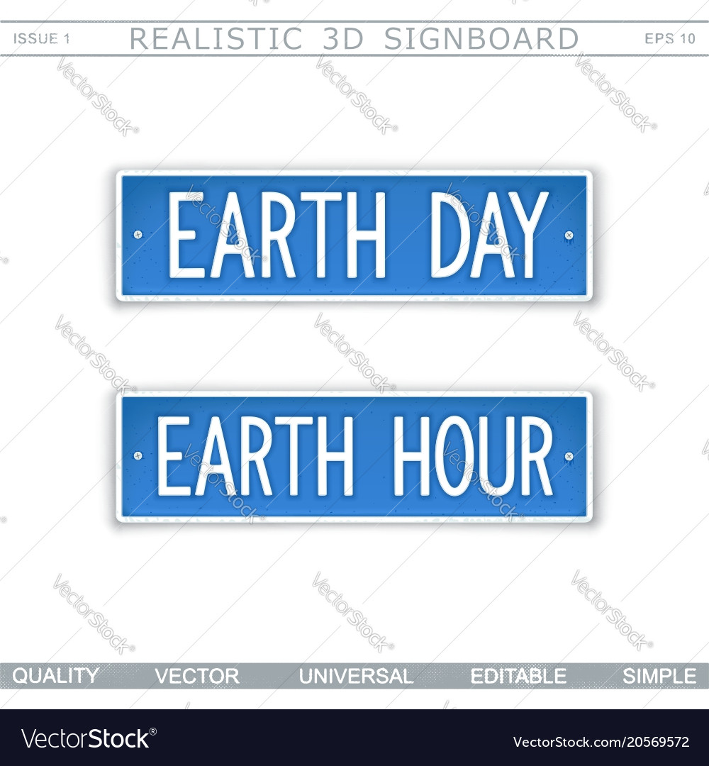 Earth day earth hour