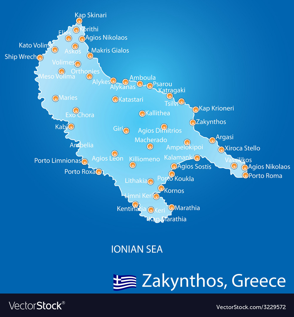 Island of zakynthos in greece map royalty free vector image island of zakynthos in greece map vector image gumiabroncs Choice Image