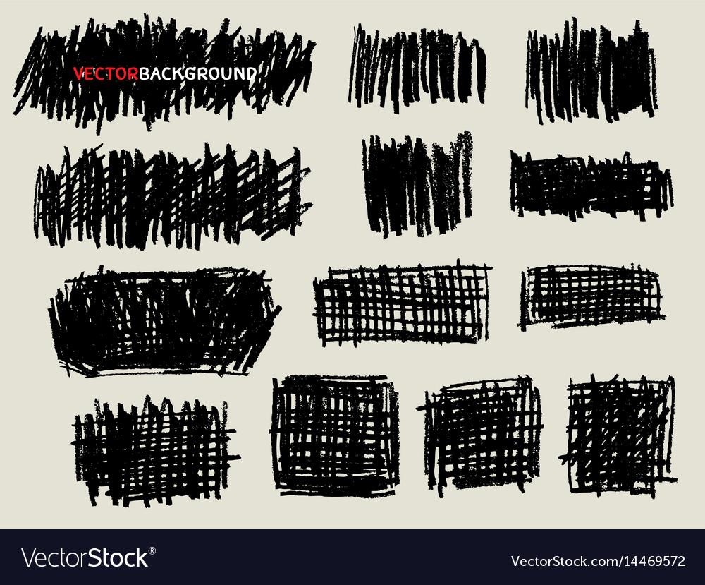 Pencil doodle sketch texture background set