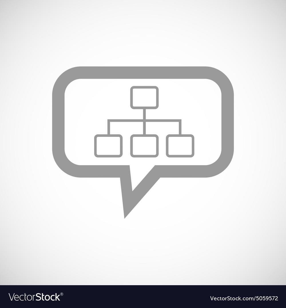 Scheme grey message icon