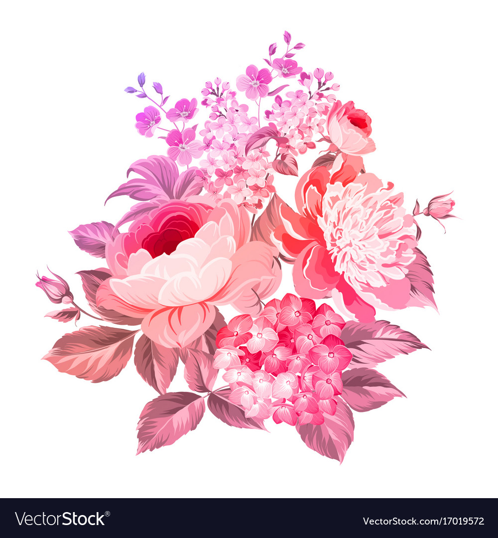 Summer flowers bouquet Royalty Free Vector Image