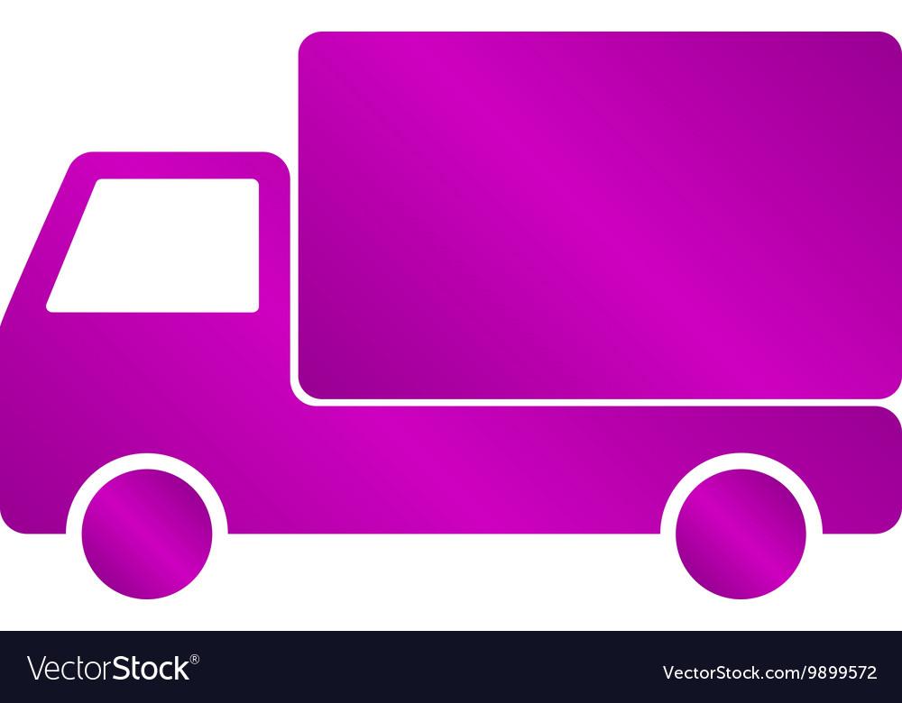Truck icon Flat design style
