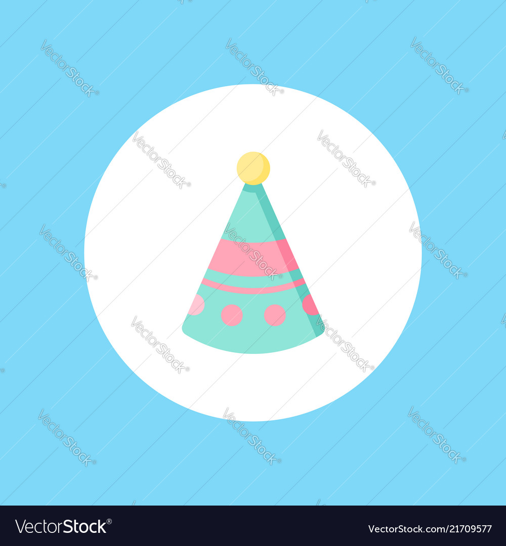 Birthday hat icon sign symbol