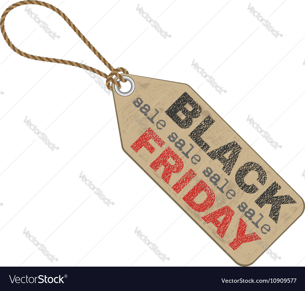 Black friday sales tag