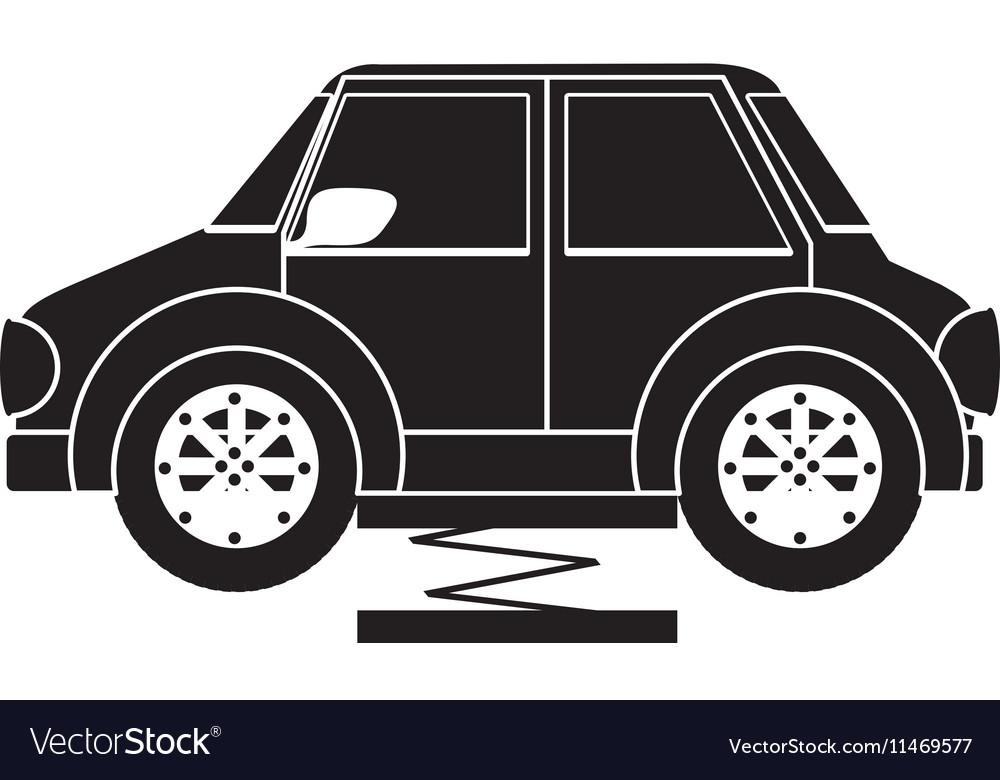 Hydraulic Car Lift >> Car On Hydraulic Car Lift