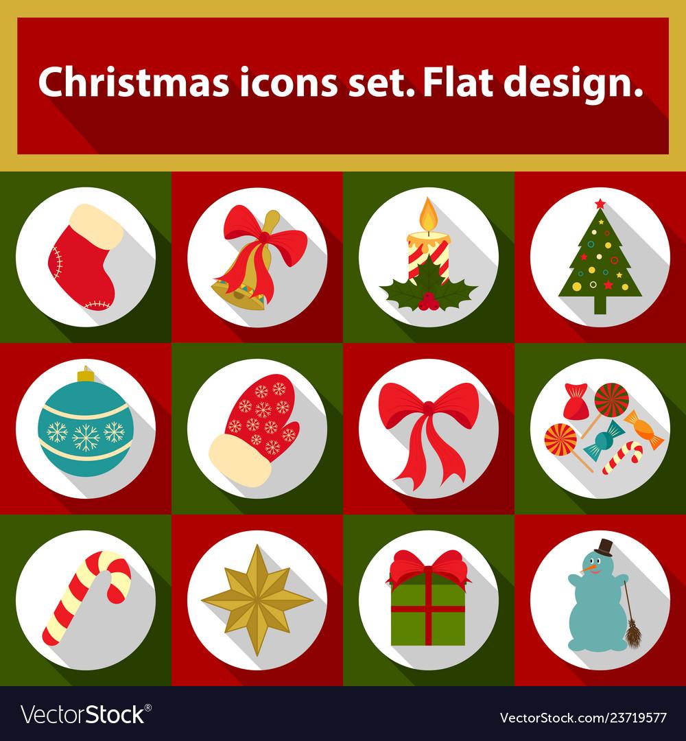 Christmas icons set 12 image