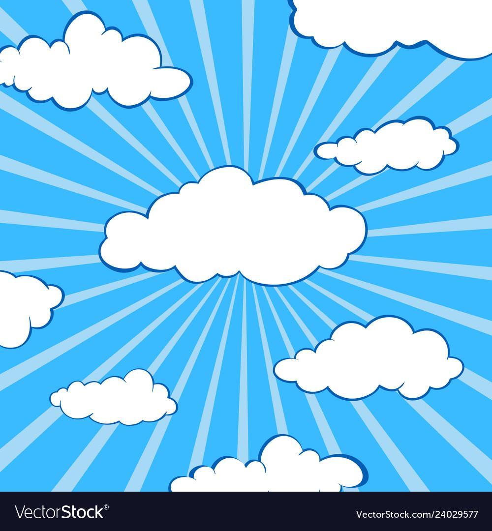 Clouds stylized flat set