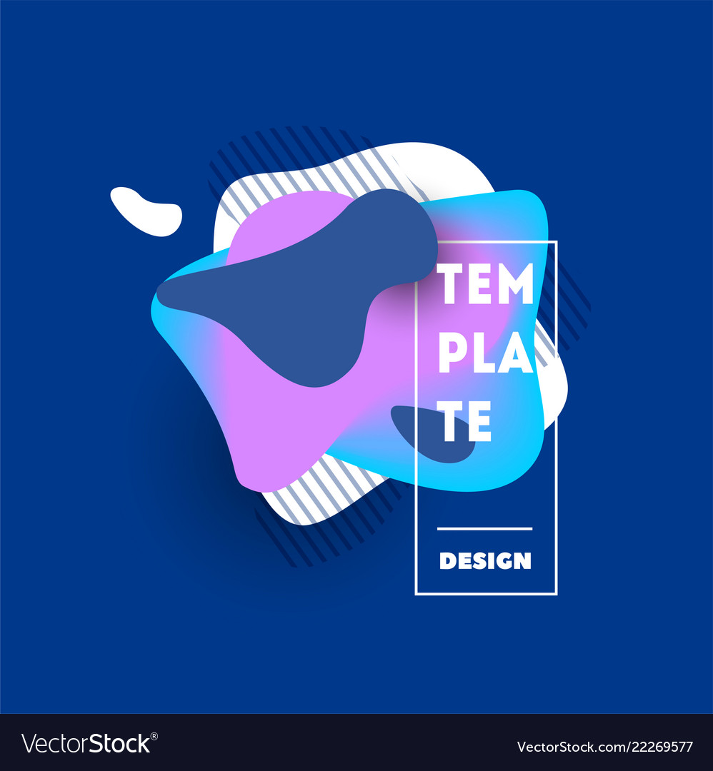 Gradient abstract banners with flowing shapes