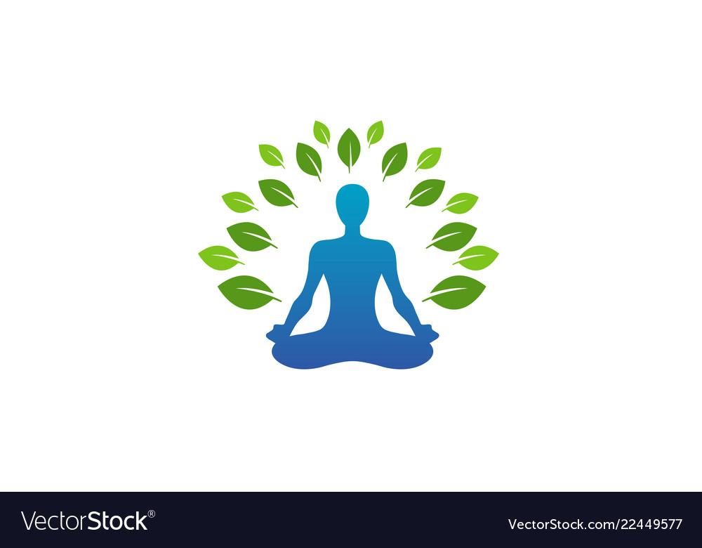 Green body leaves logo