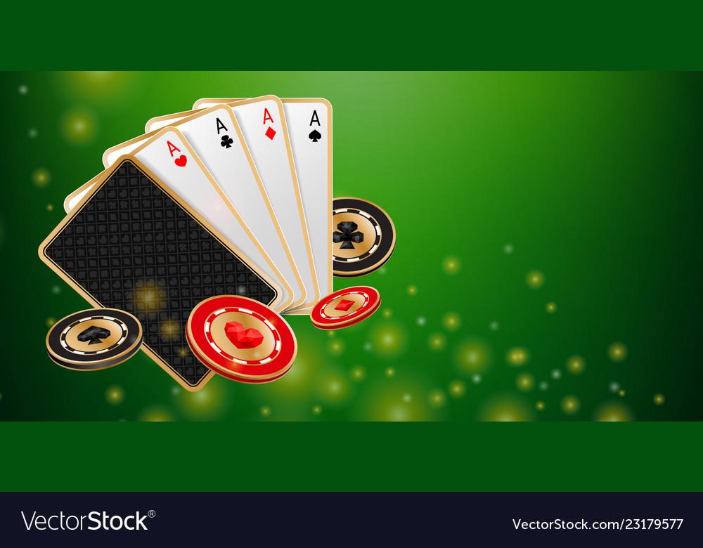 Green shiny casino banner