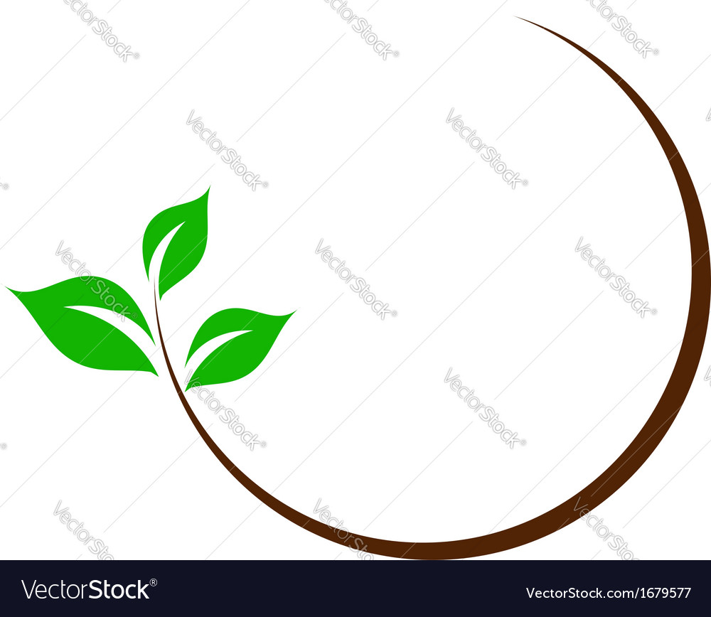 organic logo with green leaves royalty free vector image rh vectorstock com victor leaves chancellor industries victor leaves yuuri