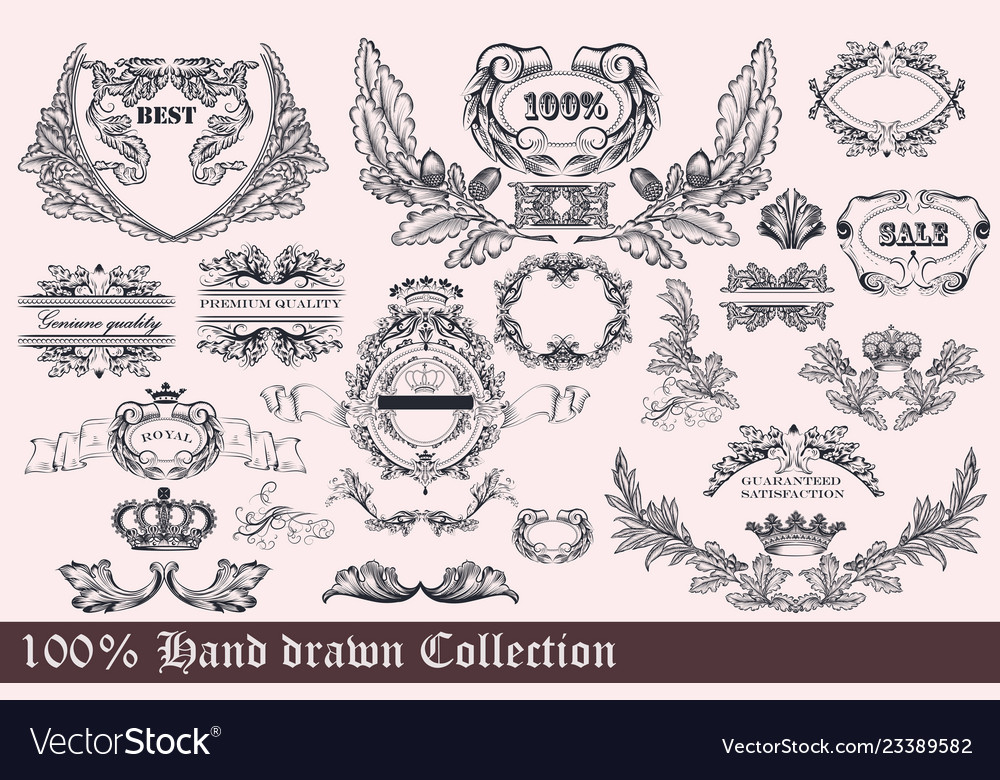Collection of wreath frames and ornaments