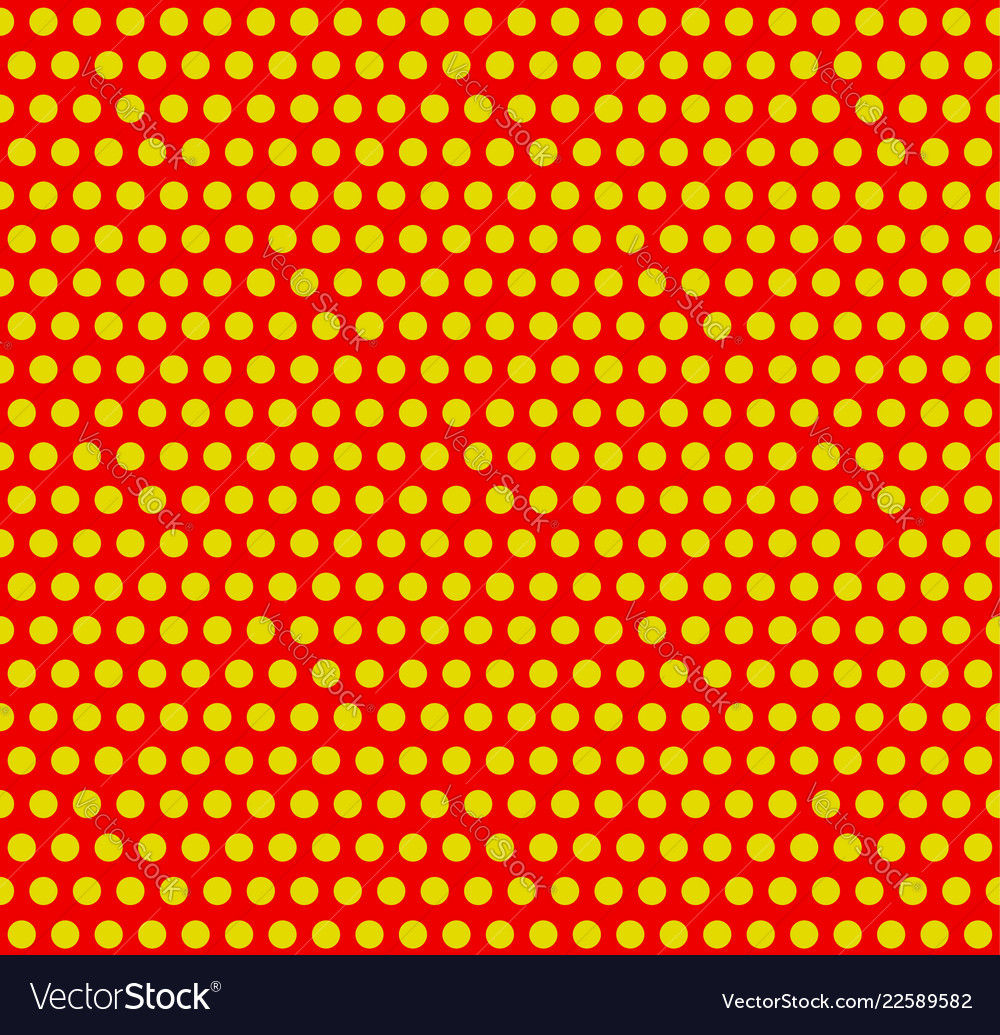Dotted pop-art polka dot background yellow red