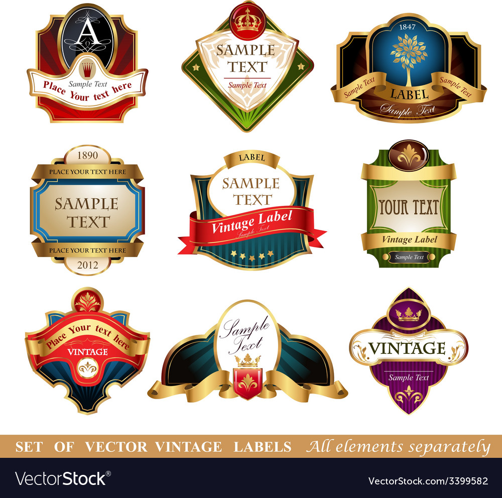 Labels and frames vector image