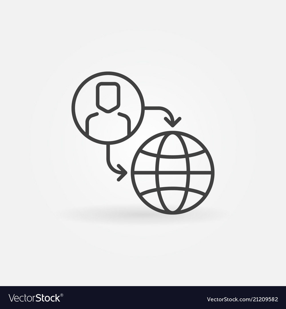 Outsourcing outline icon or sign