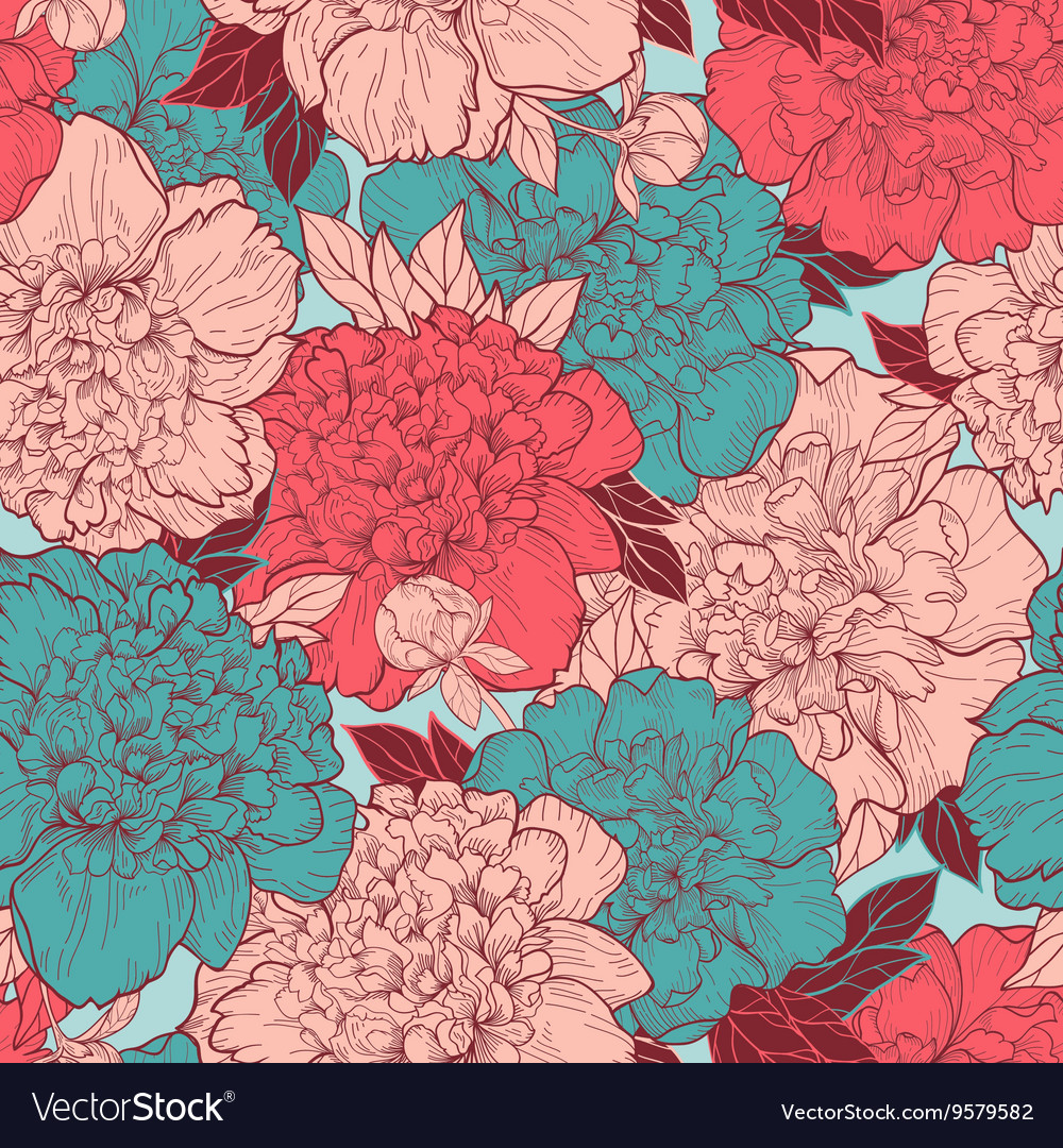 Seamless background with beautiful pattern
