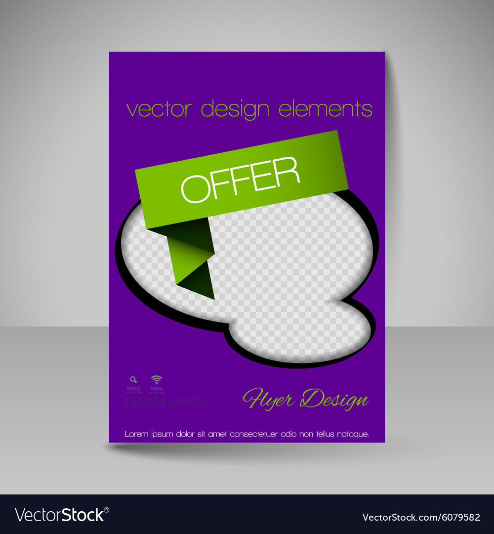 site layout for design flyer royalty free vector image