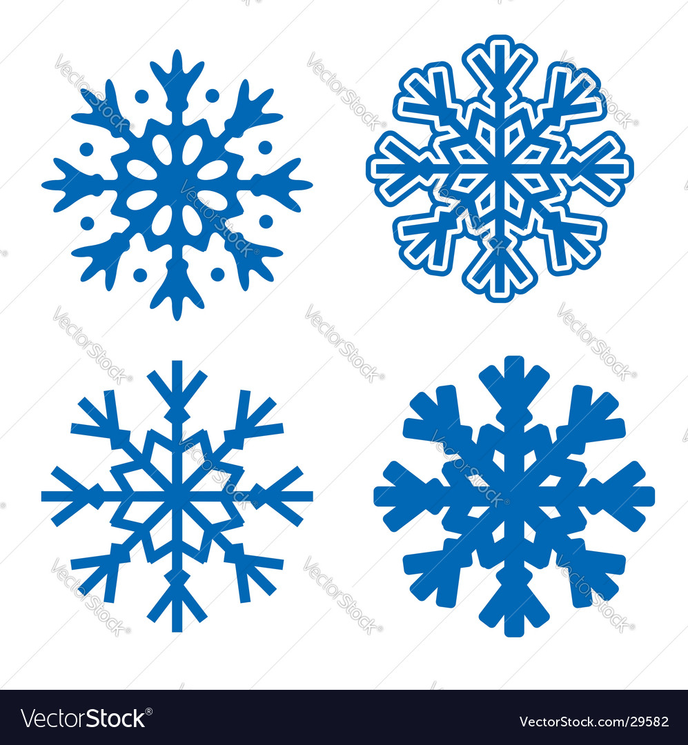 snowflakes royalty free vector image vectorstock rh vectorstock com snowflake vector graphics snowflake vector art free