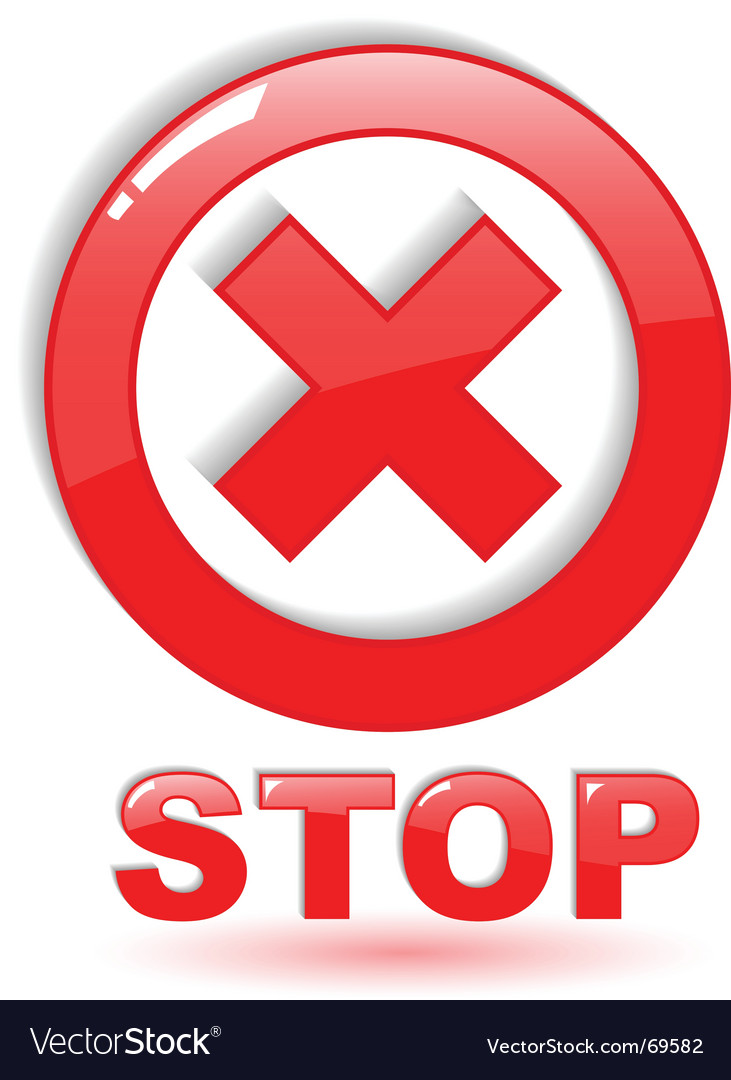 Stop symbol on white vector